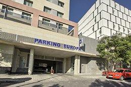 Fachada del parking Avenida Mexico en Alicante