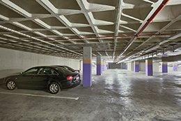 Interior del parking Avenida Mexico en Alicante