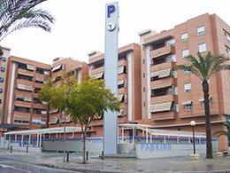 Fachada del parking Hospital Alicante