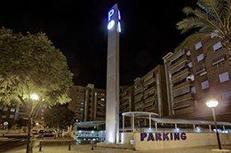 Monolito del parking Hospital Alicante